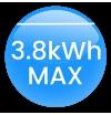 Carregador VE Portátil OLED Tipo2 (Mennekes) Monofásico (Ajustável 6A - 16A) 3.7Kw