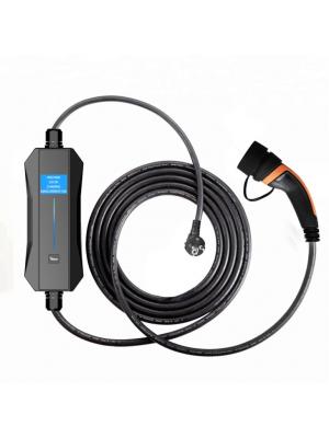 EV Carregador Portátil Ciclosystem® Tipo2  ( Mennekes) Monofásico (Ajustável 6A-16A) LCD 3.4Kw