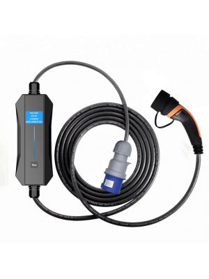 EV Carregador Portátil Ciclosystem® tipo2 ( Mennekes) Monofásico (Ajustável 10A-32A) LCD 7.4Kw