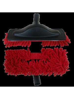 Escova Mopa Microfibra Aspiração Central | Vermelho
