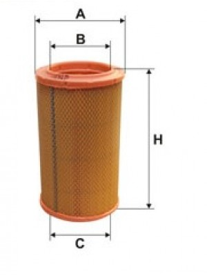 Filtro Cartucho Papel 220/125mm