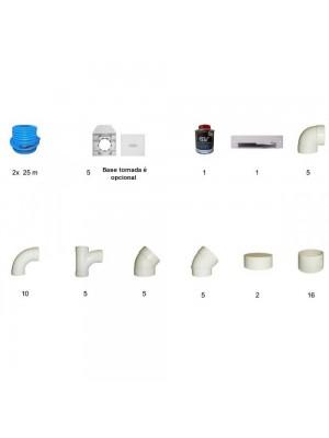 Kit Pré Instalação 5 Tomadas Com Glutão (Não Inclui Tubo Pvc)